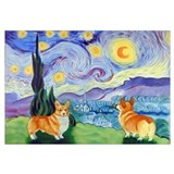 Welsh Corgi, , Starry Night