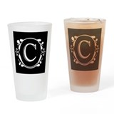 INITIAL C MONOGRAM Drinking Glass