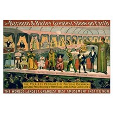 BARNUM AND BAILEY FREAK SHOW 16x20