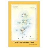 Historical 1901 Lake Erie Islands Map