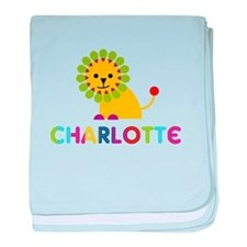 Charlotte the Lion baby blanket