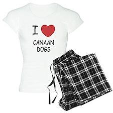I heart canaan dogs Pajamas