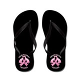 Breast cancer Flip Flops
