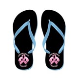 Pink Guardian Angel Flip Flops