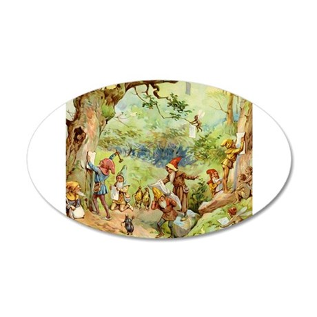 Gnomes, Elves & Forest Fairies 38.5 x 24.5 Oval Wa