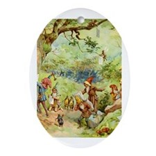 Gnomes, Elves & Forest Fairies Ornament (Oval)