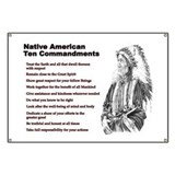 Native American Ten Commandments - Banner