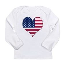 U.S.A. Heart Long Sleeve Infant T-Shirt
