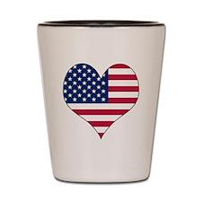 U.S.A. Heart Shot Glass