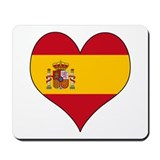 Spain Heart Mousepad