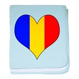 Romania Heart baby blanket