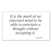 Aristotle quote 46 Rectangle Bumper Stickers