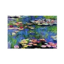 MONET WATERLILLIES Rectangle Magnet
