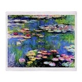 MONET WATERLILLIES Throw Blanket