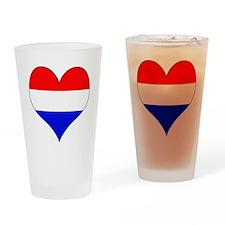 Netherlands Heart Drinking Glass