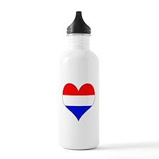 Netherlands Heart Water Bottle