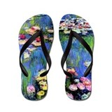 MONET WATERLILLIES Flip Flops