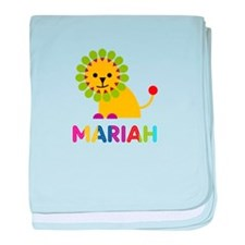 Mariah the Lion baby blanket