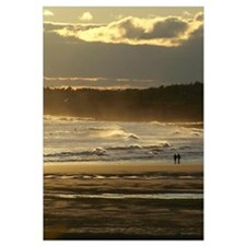 Lovers Walk On The Beach