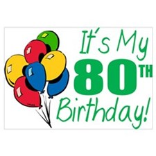 It's My 80th Birthday (Balloons)