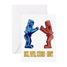 Rock'em Sock'em Paper Scissor Greeting Cards (Pk o