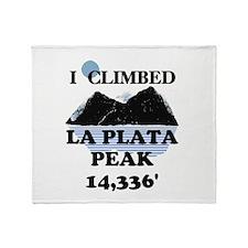 La Plata Peak Throw Blanket