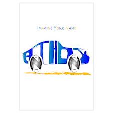 Anthony blue car