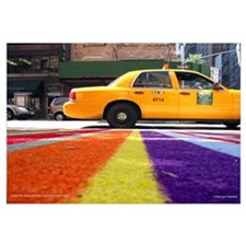 Even The Sidewalks Are Coloful in New York