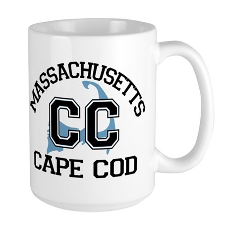 Cape Cod MA - Varsity Design Large Mug