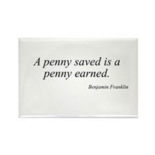 Benjamin Franklin quote 8 Rectangle Magnet
