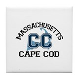 Cape Cod MA - Varsity Design Tile Coaster
