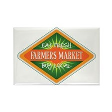 Eat Fresh Farmers Market Rectangle Magnet (10 pack