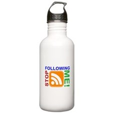 Stop Following Me! RSS Icon Water Bottle