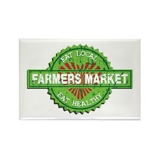 Farmers Market Heart Rectangle Magnet (100 pack)