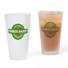 Farmers Market Heart Drinking Glass