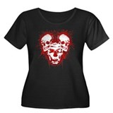 Dead Mouse 2 Women's Plus Size Scoop Neck Dark T-S