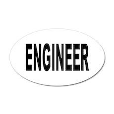Engineer 38.5 x 24.5 Oval Wall Peel