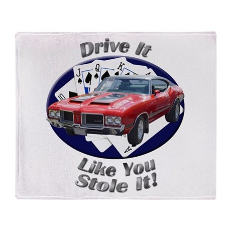 Olds 4-4-2 Throw Blanket