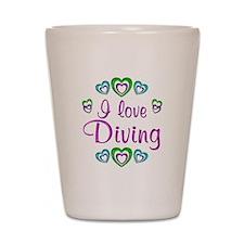 I Love Diving Shot Glass