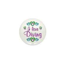 I Love Diving Mini Button (100 pack)