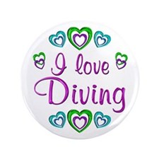"I Love Diving 3.5"" Button (100 pack)"