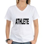 Athlete Women's V-Neck T-Shirt