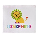 Josephine the Lion Throw Blanket