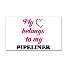 My Heart Belongs to my Pipeli Car Magnet 20 x 12