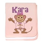 Little Monkey Kara baby blanket