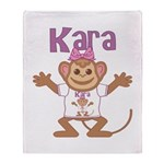 Little Monkey Kara Throw Blanket