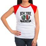 New York Italian Women's Cap Sleeve T-Shirt