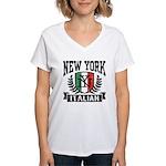 New York Italian Women's V-Neck T-Shirt