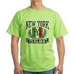 New York Italian Green T-Shirt