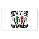 New York Italian Sticker (Rectangle)